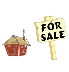 HOUSE FOR SALE WHITE vector image