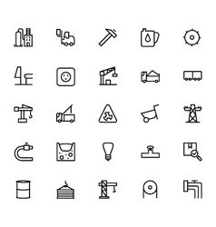 Industrial Processes Line Icons 3 vector image