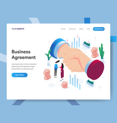 landing page template business agreement vector image