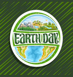 Logo for earth day vector