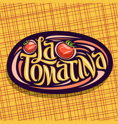 Logo for tomatina festival vector