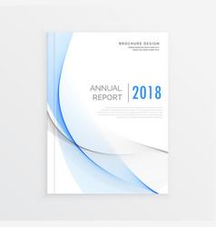 Magazine cover template design business brochure vector