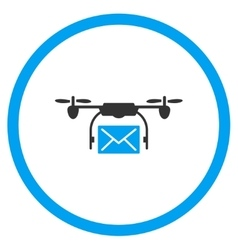 Mail Air Copter Delivery Icon vector