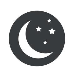 Monochrome round night icon vector image
