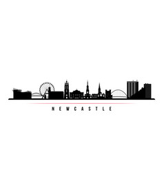 newcastle skyline horizontal banner vector image