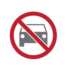 No parking allowed sign on white background for vector