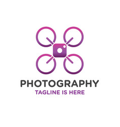 Photography drone logo vector