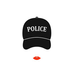 police woman icon in isolated on white background vector image