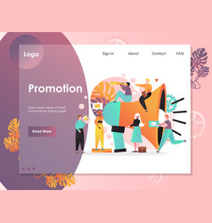 Promotion website landing page design vector