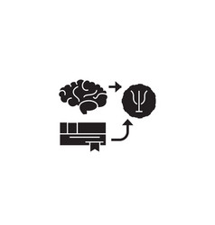 psychoanalysis black concept icon vector image