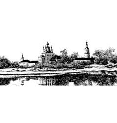 Sanaksarsky monastery vector image