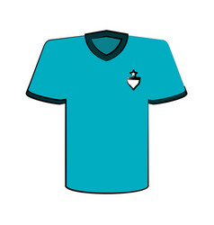 shirt with emblem on chest icon image vector image