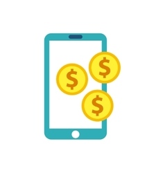 Smartphone technology with seo icon vector