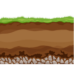 Soil layers surface horizons upper layer earth vector