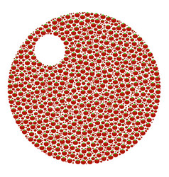Sphere collage of tomato vector