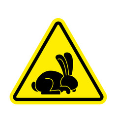 stop rabbit it is forbidden to prohibit bunny vector image