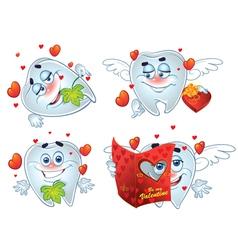 Teeth on romantic Valentines Day vector