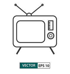 television tv icon outline style eps 10 vector image