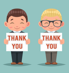 thank you smiling blank promotion advert paper vector image