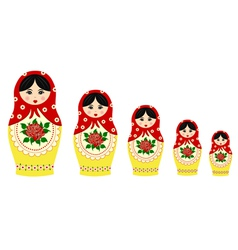 Traditional matryoschka dolls vector image