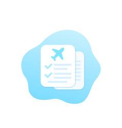 Travel insurance icon vector