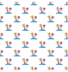 tropical island pattern seamless vector image