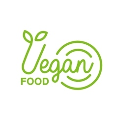 Vegan Natural Food Green Geometric Logo Design vector