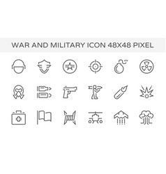 war military icon vector image