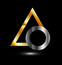 Abstract business logo with triangle and ring vector image vector image