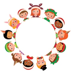 Children in the costume of Christmas vector image