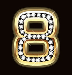 eight bling vector image vector image