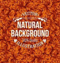 Natural pattern made of green leaves vector image