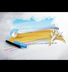 tenpin bowling banner vector image vector image