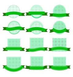 banner green vector image vector image