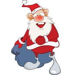 Cute Santa Claus and Sack Full vector image