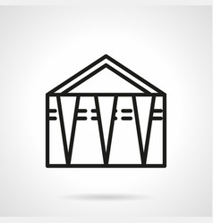 street trade tent simple line icon vector image
