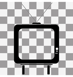 TV icon picture on transparency vector image vector image