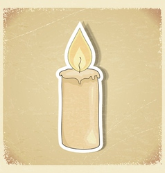 Vintage postcard with a picture candles vector image