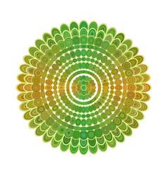 abstract floral mandala ornament design - vector image vector image