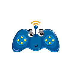funny wireless gamepad cartoon character vector image vector image
