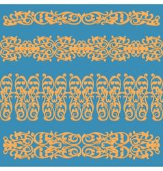 pattern ornament orange vector image