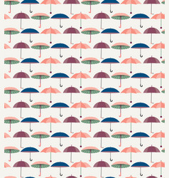 pattern with a set of textured flat umbrellas vector image vector image