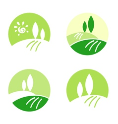 rolling hill icons vector image