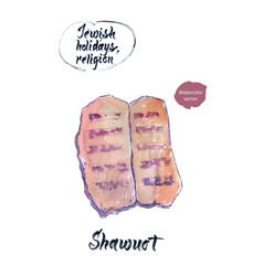 shawuot watercolor hand drawn vector image vector image