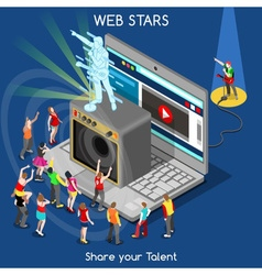 Webstars 01 People Isometric vector image vector image