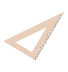 Wood triangle isolated on white background vector image