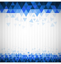 Abstract Retro Blue Triangle Background vector image vector image