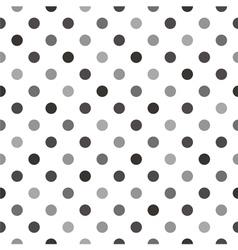 Black grey polka dots tile white background vector