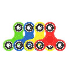 Color hand fidget spinners set vector