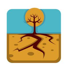 dangerous drought that destroys plants and make vector image